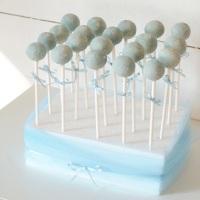 Babyblå Cake pops